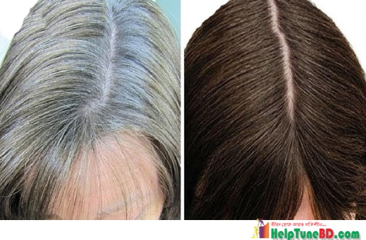 How to convert white hair into black naturally