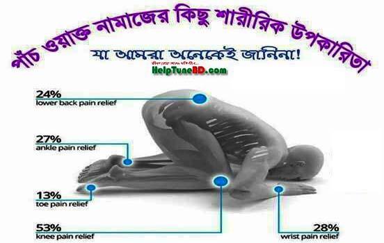 পাঁচ ওয়াক্ত নামাজের শারীরিক উপকারিতা ও নামাজের মানসিক উপকারিতা, physical benefits of prayer
