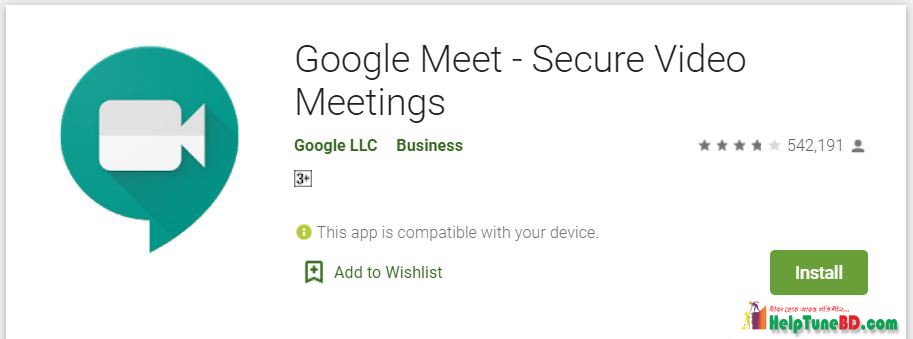Google Meet play store