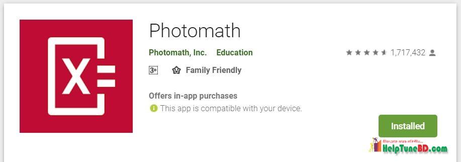 photomath best mobile app, গনিত অ্যাপ